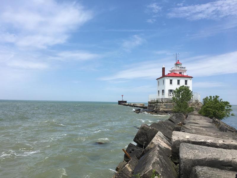 The Fairport Harbor West Breakwater Lighthouse.
