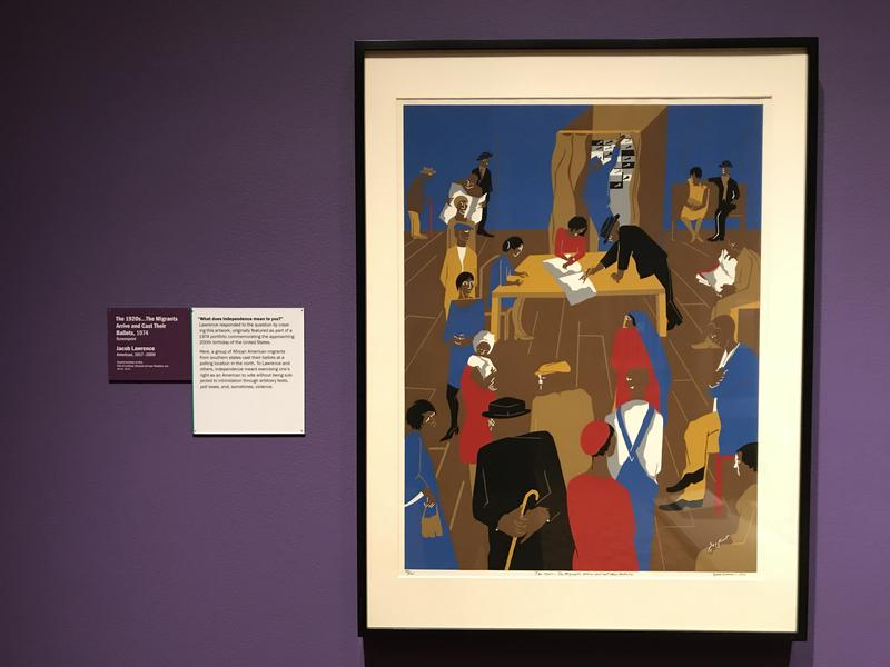 The 1920s... The Migrants Arrive and Cast Their Ballots, ‎©1967 Jacob Lawrence