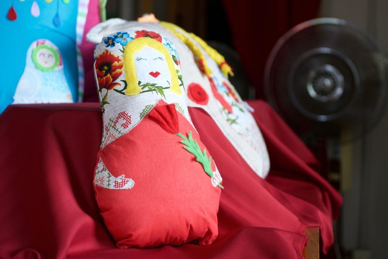 A handmade doll.