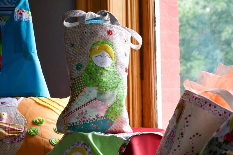 A handmade bag.