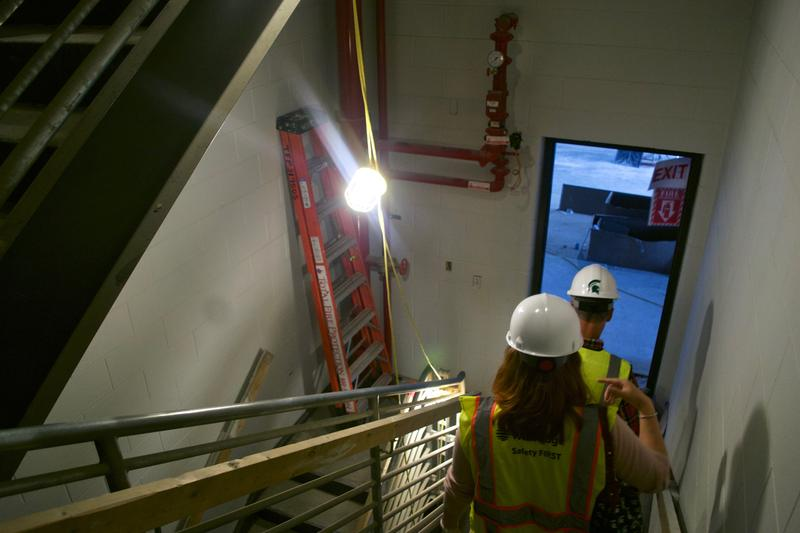 Final construction underway at 1855 Place at MSU.