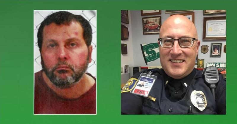 Amor Ftouhi (left) suspect in attack on Bishop Int'l. Airport police Lt. Jeff Neville (right)