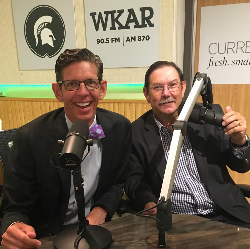 Holt Superintendent Dr. David Hornak (left) and Delhi Township Supervisor John Hayhoe stopped by Studio S today to chat about issues in Delhi Township.