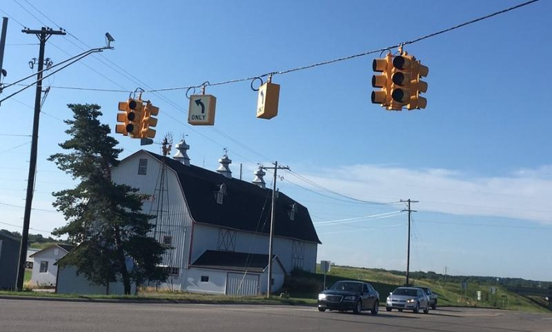 Potterville traffic light photo