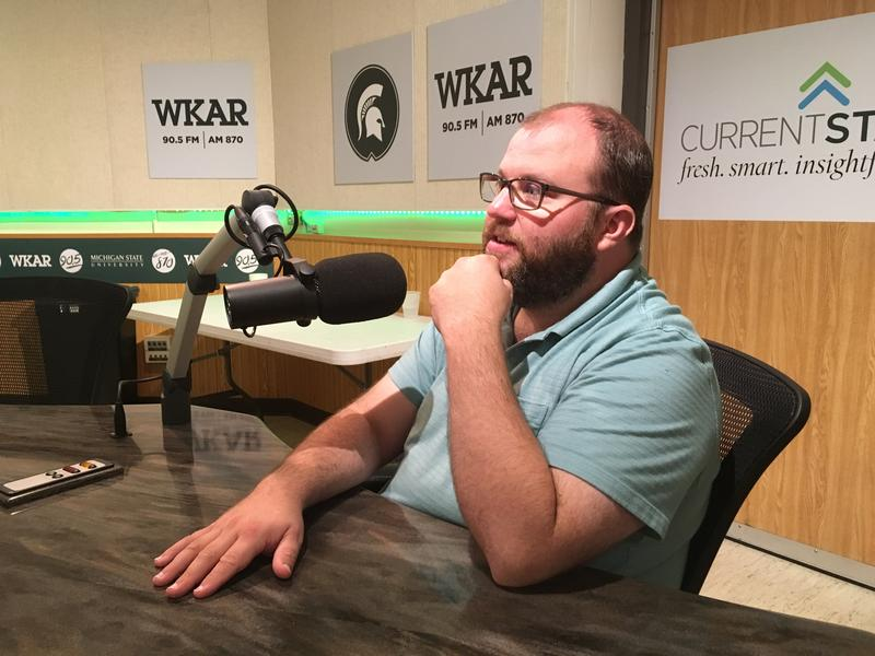 Owosso Mayor Chris Eveleth in the WKAR studios on July 17, 2017.