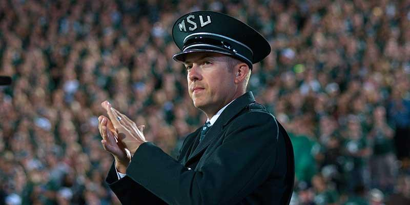 MSU's new Marching Band Director, David Thornton
