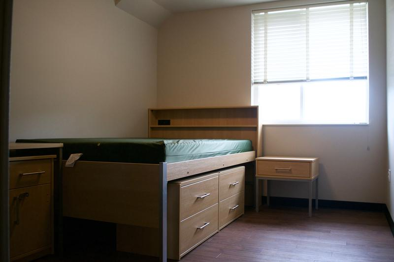 Apartment unit inside 1855 Place at MSU.