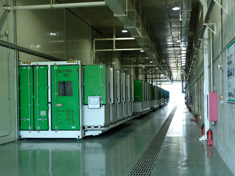 The Foxconn data center was designed to sit on a natural plateau, where the altitude and monsoon climate keep the average annual temperature at 59 degrees.
