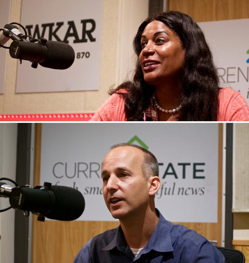 Lansing mayoral candidates  Judi Brown Clarke (top) and Andy Schor (bottom).
