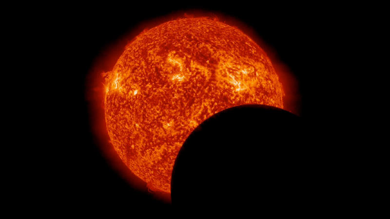 moon in front of the sun