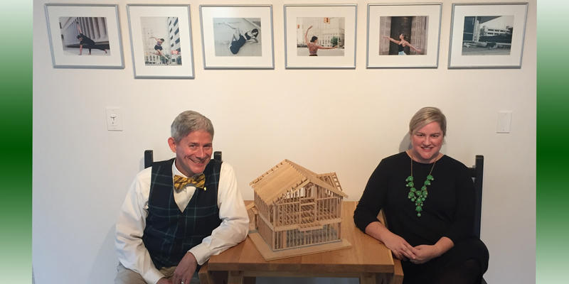 Daniel Bollman and Amanda Harrell-Seyburn of east arbor architecture ahead of the new unveiling of the new Plus Gallery