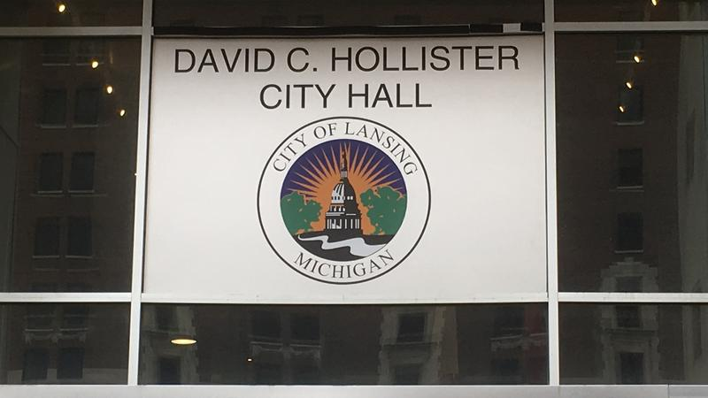 New Lansing City Hall sign