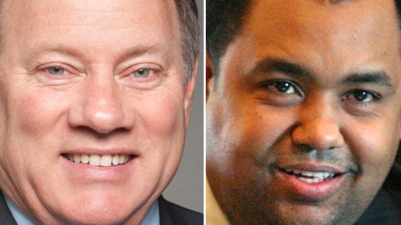 Detroit Mayor Mike Duggan (left) and challenger State Sen. Coleman Young II (right).