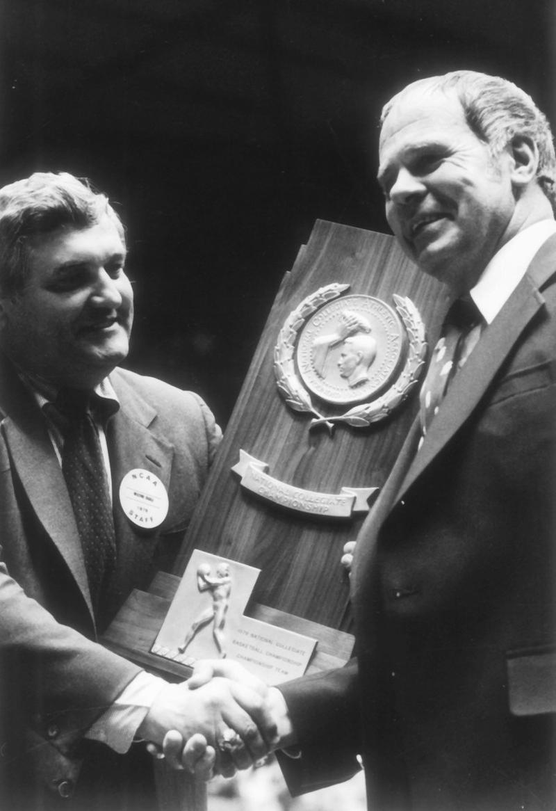 MSU basketball coach Jud Heathcote in 1979 when the Spartans won their first NCAA Championship.