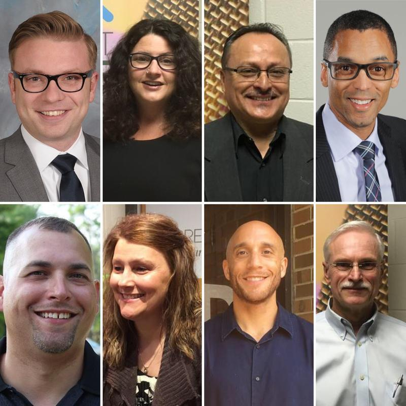 Lansing City Council candidates who will compete in November. Top row: Peter Spadafore, Kathie Dunbar, Guillermo Z. Lopez, Kyle Bowman. Bottom Row: Jeremy A. Garza, Tina Houghton, Brian T. Jackson and James M. McClurken.