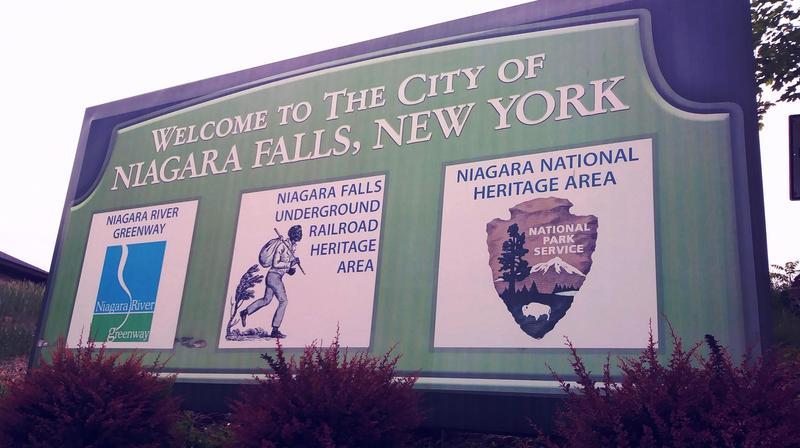 Bridge crossing in Niagara Falls NY location where Harriet Tubman helped runaway slaves escape to Canada.