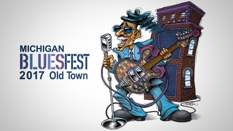 MI BluesFest logo