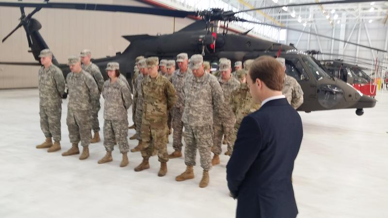 troops with helicopter