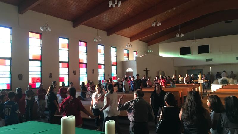 Vigil for earthquake and storm victims at Cristo Rey Catholic Church in Lansing on September 20, 2017.