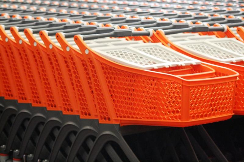 orange shopping carts