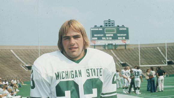 Kirk Gibson in his Spartan Football days