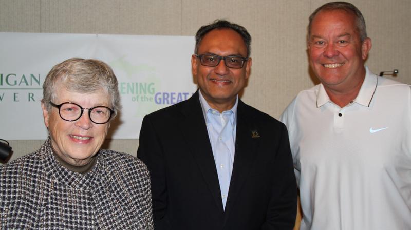 Lou Anna K. Simon, Sanjay Gupta, Mark Hollis