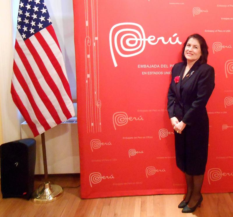 Rocío Quispe-Agnoli at the Peruvian embassy in Washington D.C. in 2013