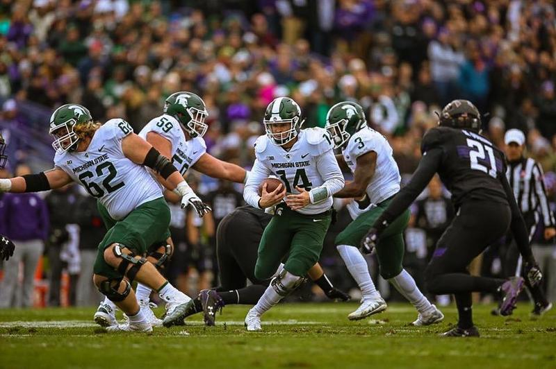 MSU football playing Northwestern on October 28, 2017.