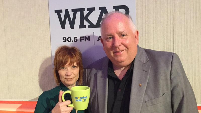 Left: Morning Edition host Brooke Allen and right: Frank Walsh, Meridian Township Director