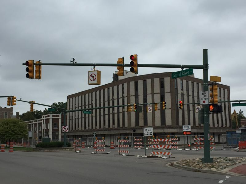The Park District Planning Area Property Includes the old bank building on the corner of Grand River and Abbot.