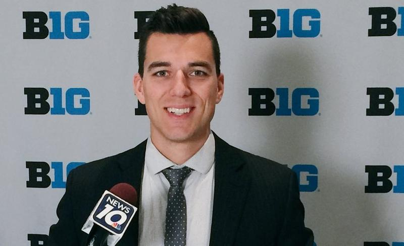 Zach Berridge, WILX TV10 sports reporter / anchor.