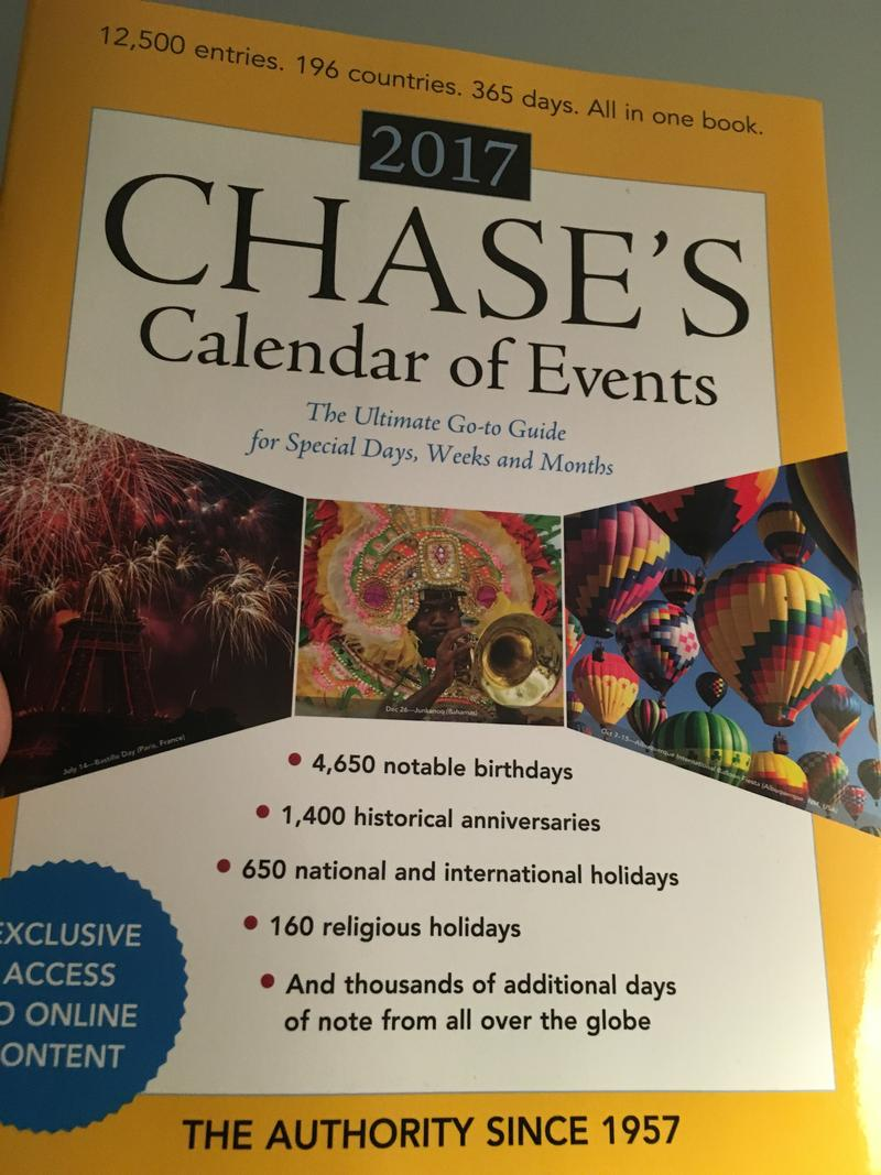 Cover of Chase's Calendar of Events