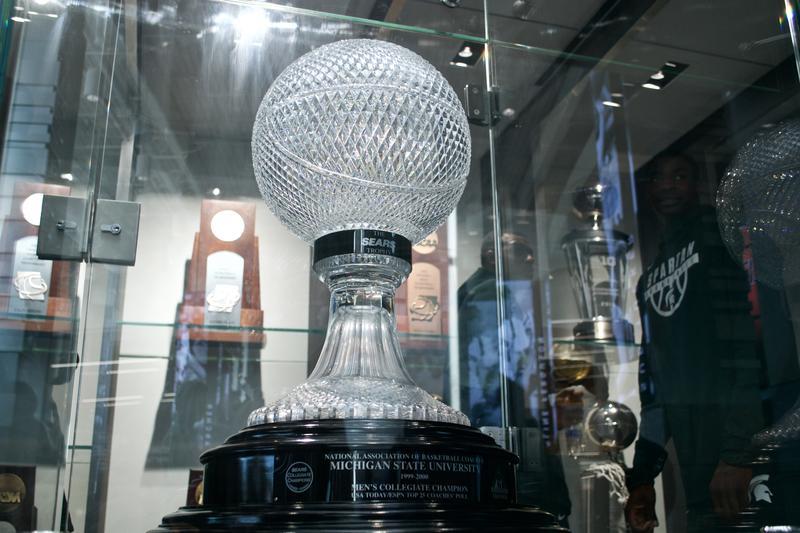 MSU men's championship trophy.