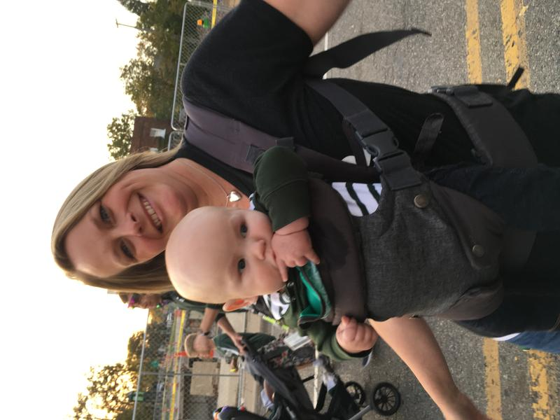 WKAR's Melissa Nay with her youngest son.