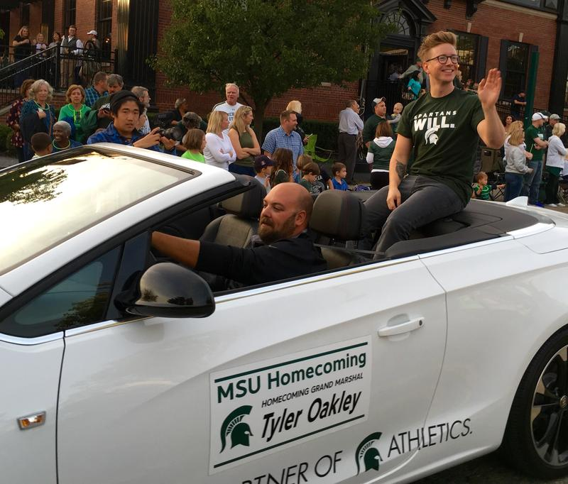 2017 MSU Homecoming parade grand marshal Tyler Oakley.