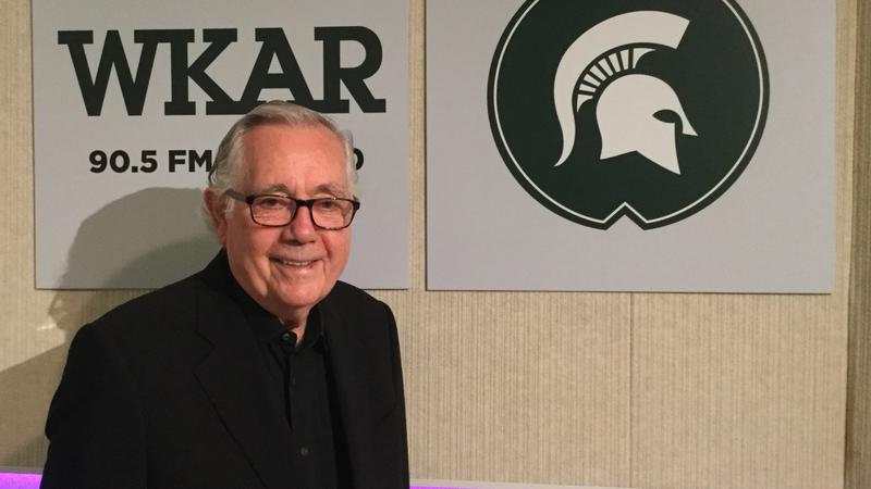 Keith Reinhard in the WKAR studios.