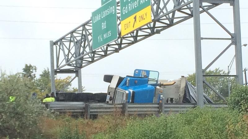 A large truck incident closed US 127 at M-43 (Saginaw Highway) around noon on Wednesday. I
