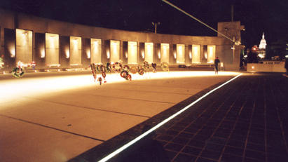 Michigan Vietnam Monument at night