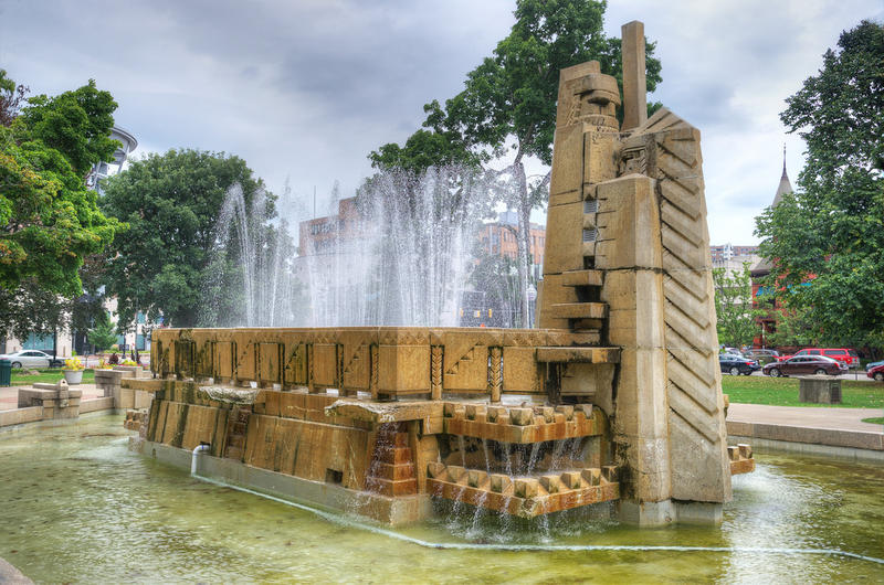 The Fountain of the Pioneers in Kalamazoo