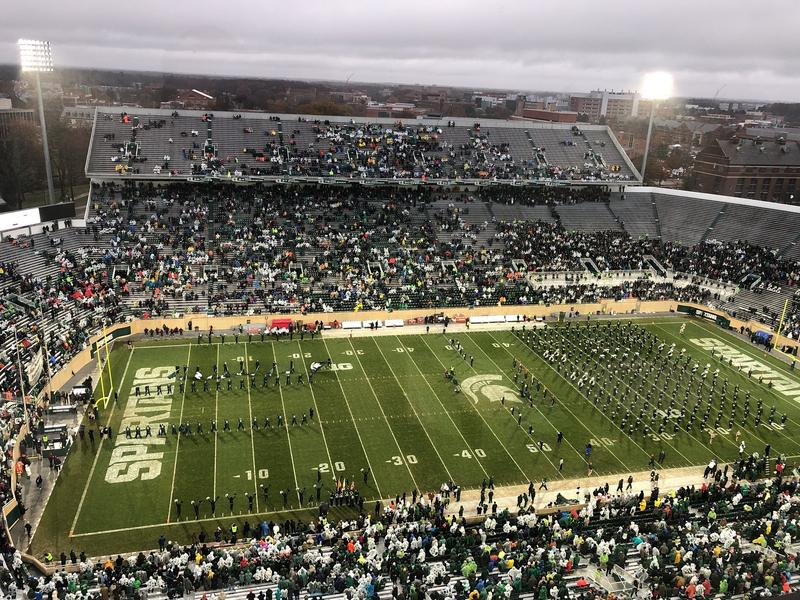 Spartan Stadium before the game and snow began