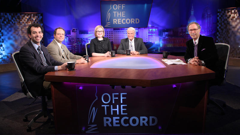 Bill Ballenger, Zoe Clark, Zach Gorchow and Kyle Melinn appearing on Off the Record with Tim Skubick.