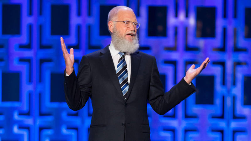 David Letterman, broadcaster, speaking at an event
