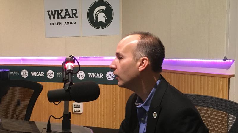 "State Rep. Andy Schor talking on WKAR's ""Morning Edition"" on the morning after his victory in the Lansing mayoral election."