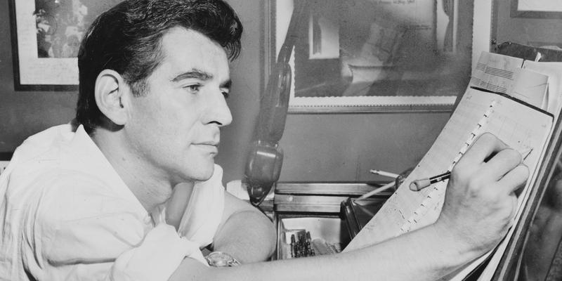 NYPhil's Leonard Bernstein in 1955