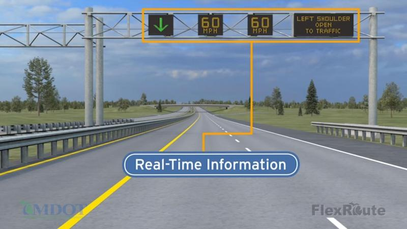 FlexRoute graphic from YouTube video instructing drivers how to drive the route.