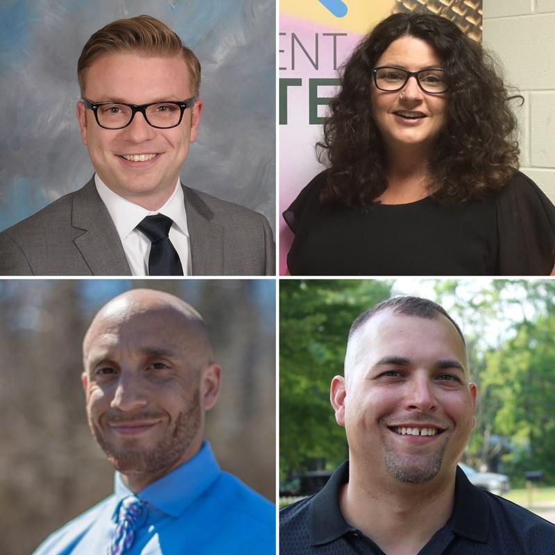 Top row: Peter Spadafore, Kathie Dunbar; Bottom row: Brian T. Jackson, Jeremy A. Garza