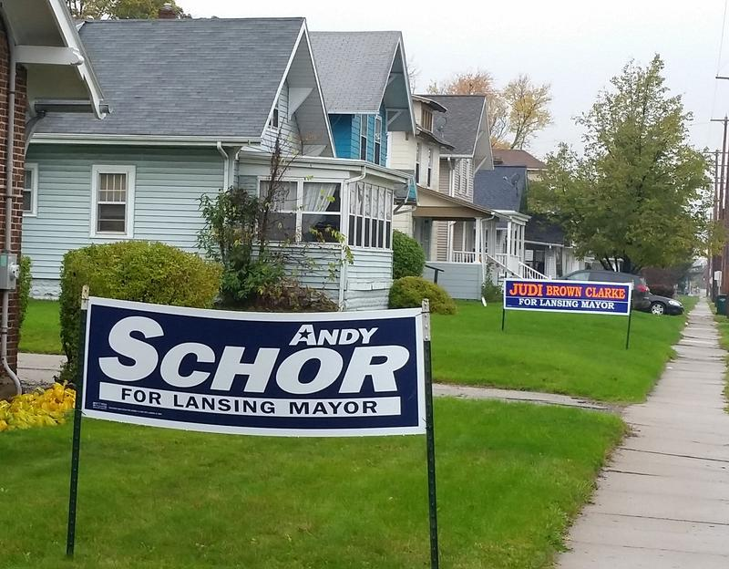 two campaign signs