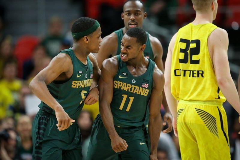 No. 2 Michigan State defeated upset-minded Oakland 86-73 in Detroit.