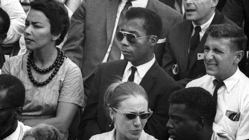 James Baldwin pictured in the crowd