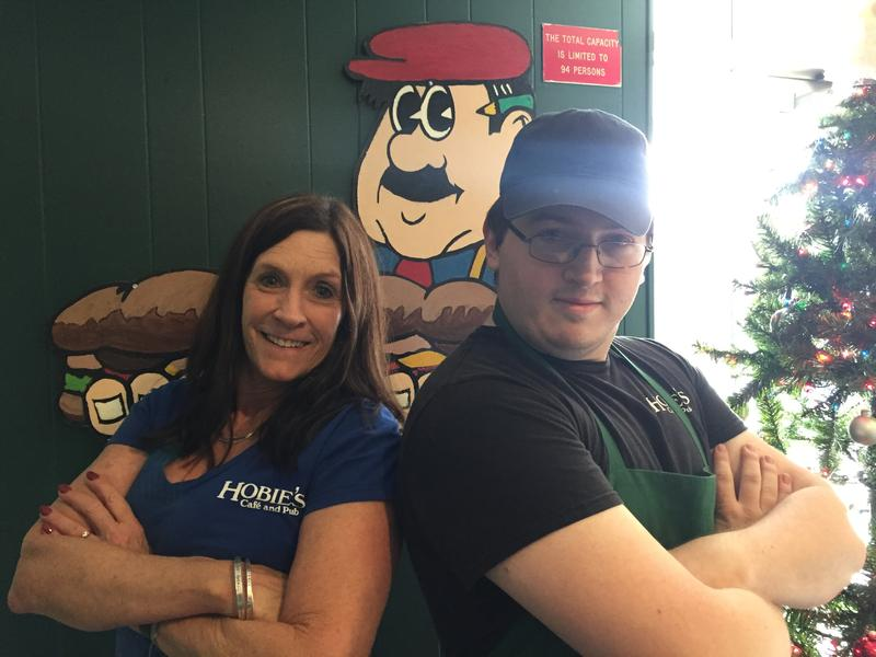 Hobie's Owner Jane Kleiman and Assistant Manager Jacob Nevin.